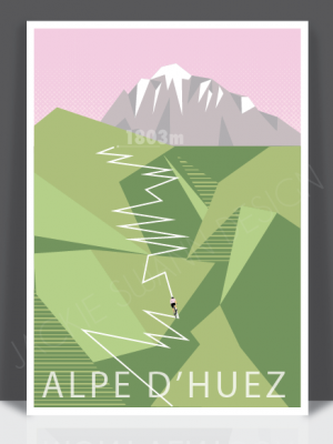 Alpe d'Huez Print