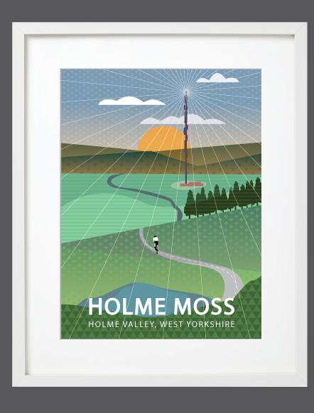 Holme Moss White Framed