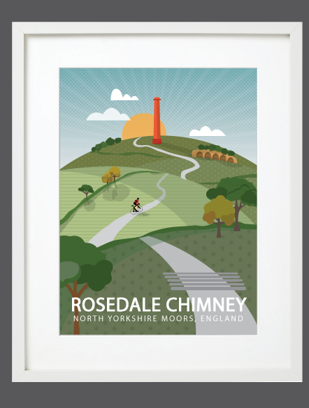 Rosedale Chimney White Frame