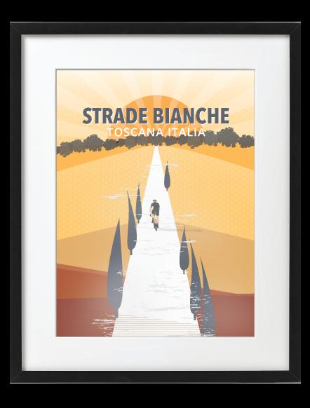 Strade Bianche Black Frame
