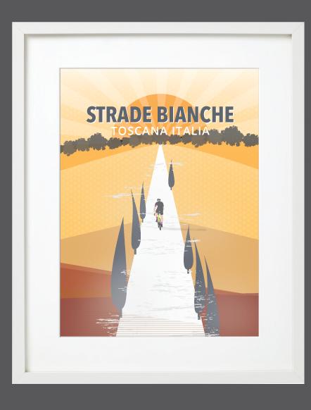 Strade Bianche White Frame