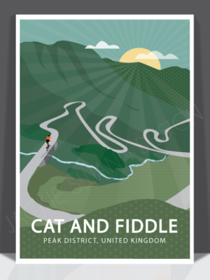 Cat and Fiddle Print