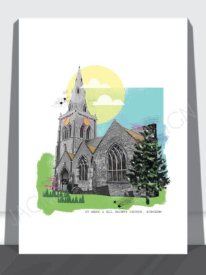 Bingham St Marys Church Print