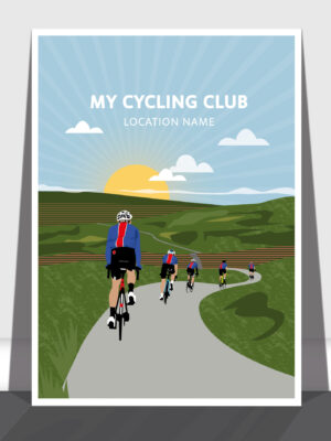 Cycling Club Group ride – Bespoke commission print
